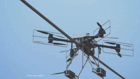 Drones and robots combine for transmission line monitoring