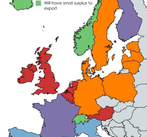 Interconnectors in Europe