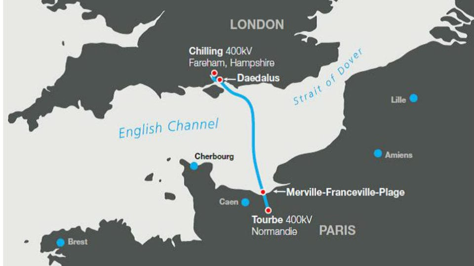 Landmark for English Channel electricity link project