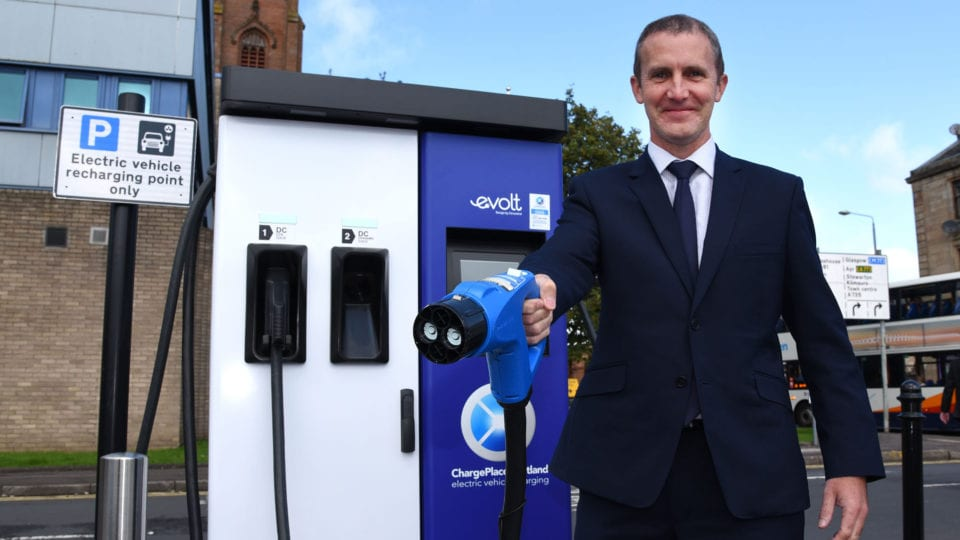 Over 1,000 EV charge points available in Scotland