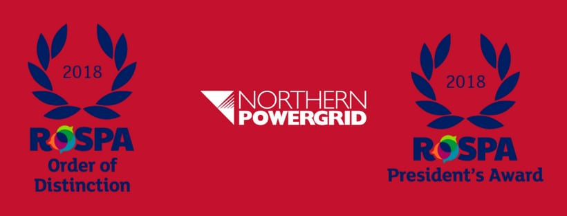Northern Powergrid receives order of distinction at RoSPA awards