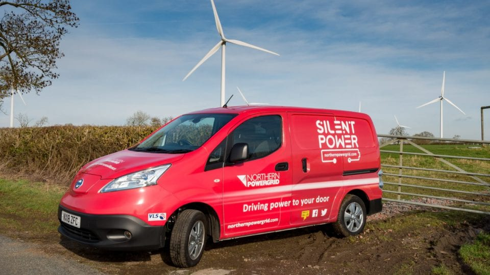 Northern Powergrid trial charges up electric vans to replace emergency generators