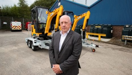 ENW buys electric diggers to dig the road to zero carbon