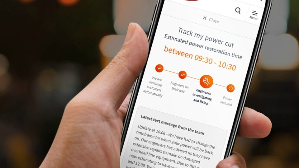Customers able to track power cuts