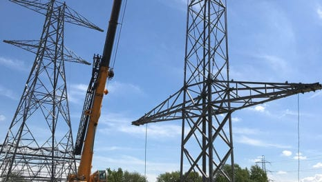 Pylon built to allow electricity to flow between UK and Europe