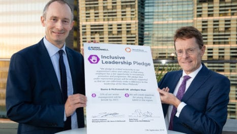 Engineering firm makes leadership pledge