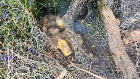 Unexploded stash of grenades unearthed by power engineers