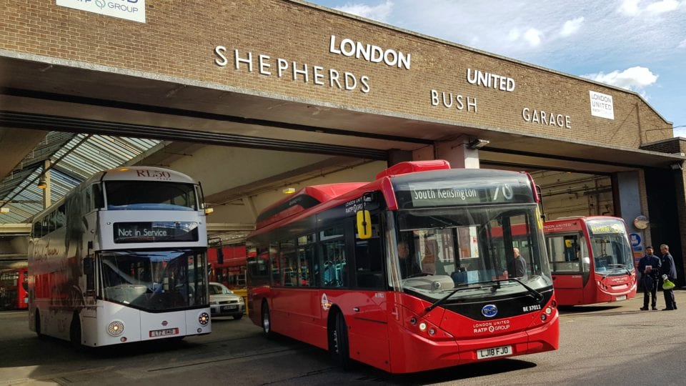 London bus garage goes electric