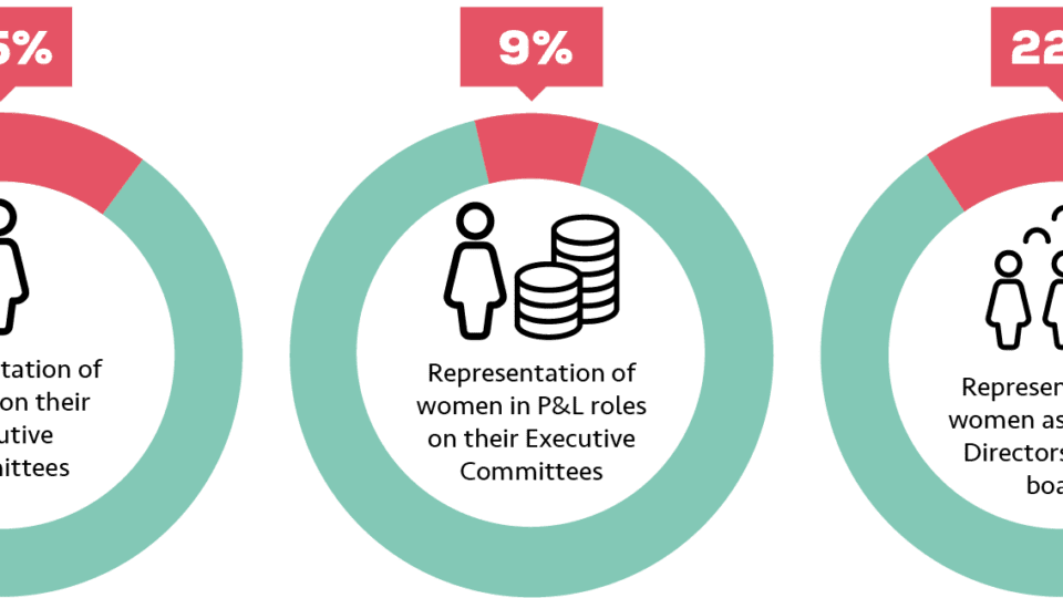 Increase in women on executive committees at utilities firms