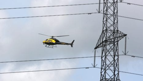 Helicopters used to inspect NI power network