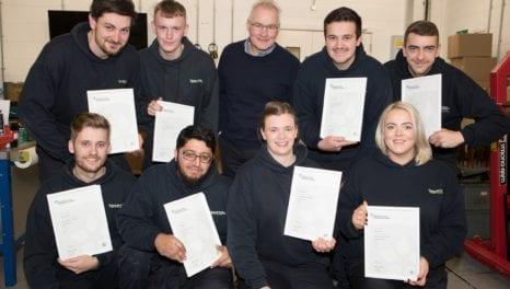 Apprentices graduate from ENW's apprenticeship programme
