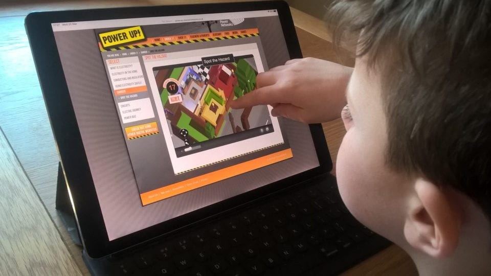Surge in popularity for 'Power Up' safety website as parents teach at home